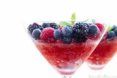 granizado de sanda y frutos rojos - watermelon and red fruits iced drink