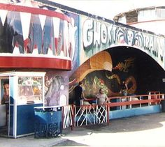 The Ghost Train at Dreamland Theme Park Margate Kent England in 1980 Dreamland Amusement Park, Margate Kent, Kent Coast, Carnival Rides, Kent England, Carnivals, West London, The Good Old Days, Rockers