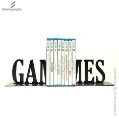 Games Bookend – Steelography