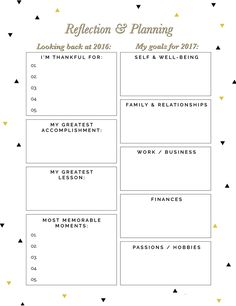 Free New Year Reflection and Planning Printable @DrawntoDIY