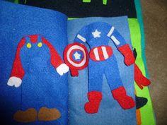 Super hero/Mario quiet book.