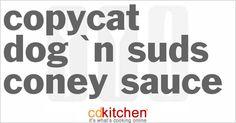 Dog 'N Suds Coney Sauce from CDKitchen.com