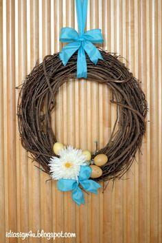 Easy Easter Wreath
