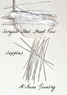 Head Pins 100 Count Plus 20 free Total 120  2 by ANenaJewelry, $6.00