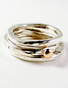 Stackable Silver & Gold Rings