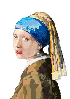 The girl with a pearl earring on Behance
