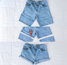 DIY Goodwill Boyfriend Shorts Source by Thrift Store Outfits, Thrift Store Fashion, Thrift Shop Outfit, Goodwill Clothes, Goodwill Finds, Diy Shorts, Diy Kleidung Upcycling, Diy Summer Clothes, Second Hand Mode