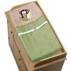 Monkey Baby Boys Changing Pad Cover, (crib bedding sets, bedding sets, changing pad, nursery, kenneth brown, baby bedding, crib bedding, jungle, nojo, changing pad covers), via https://myamzn.heroku.com/go/B003NXY9A8/Monkey-Baby-Boys-Changing-Pad-Cover