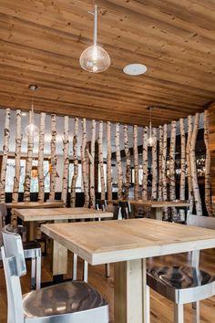 Nira Montana, Restaurant & SPa, La Thuile (AO) - HI LITE Next #lighting #design #fixtures Studio Italia Design #soap #suspension