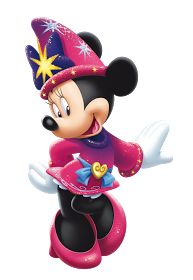 Minnie Mouse fantasia magic show in Disneyland pairs
