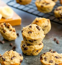 These 4 Ingredient Banana Chocolate Chip Muffins are flourless, eggless, gluten-free and contain no added sugar, oil or butter. And they taste like classic banana bread muffins!