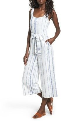 Shop Now - >  https://api.shopstyle.com/action/apiVisitRetailer?id=641083562&pid=uid6996-25233114-59 Women's J.o.a. Crop Stripe Cotton Jumpsuit  ...