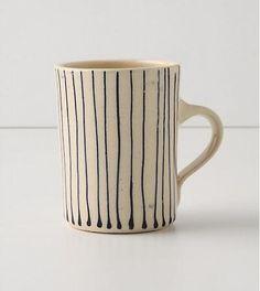 Wonki Ware Painter's Stripe Mug at Remodelista. #pintowin #anthropologie