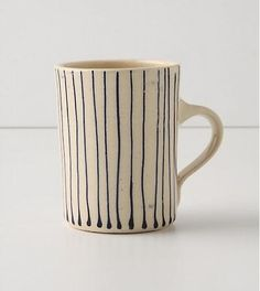 Wonki Ware Painter's Stripe Mug at Remodelista. #pintowin #anthropologie