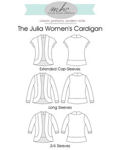 The Julia Women's Cardigan - turquoise textured knit and navy sweatshirt fleece Sewing Clothes, Diy Clothes, Dress Sewing, Clothing Patterns, Sewing Patterns, Skirt Patterns, Blouse Patterns, The Cardigans, Cocoon Cardigan