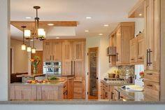 natural hickory kitchen cabinets light color shade kitchen design ideas pendant lights