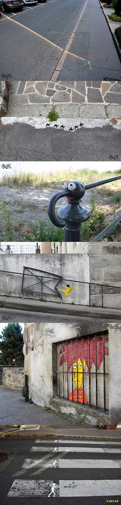 Simple, yet awesome, street art...