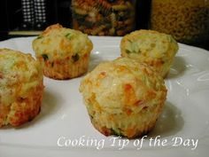 Cooking Tip of the Day: Recipe: Bacon and Cheddar Breakfast Muffins