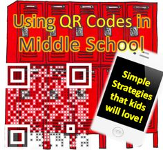 Kate's Science Classroom Cafe: QR Codes For Middle School. If only we all had iPads. Middle School Libraries, Middle School Grades, Middle School Classroom, Middle School Science, Science Classroom, Classroom Ideas, Google Classroom, Future Classroom, High School