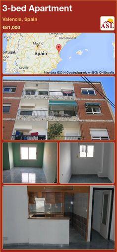 3-bed Apartment in Valencia, Spain ►€81,000 #PropertyForSaleInSpain