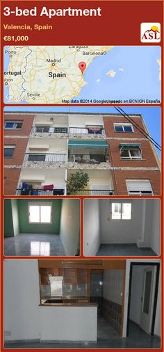 3-bed Apartment in Valencia, Spain ►€81,000 #PropertyForSaleInSpain