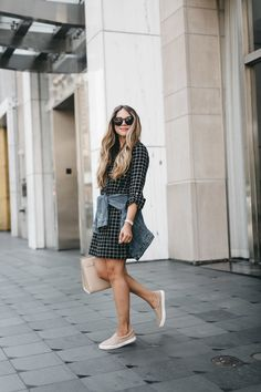 Have you ever tried wearing a dress with sneakers? I personally love the laid-back vibe and ease of pairing a comfortable dress with sneakers. It's ideal for the girl on the go and perfect for long days on your feet.  I picked up this Joie Plaid Dress (on sale) a few weeks ago with the …