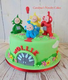 A teletubby cake I made for Mollies Birthday Toddler Birthday Cakes, 2 Birthday Cake, Birthday Cakes For Women, Teletubbies Birthday Cake, Teletubbies Cake, Childrens Cupcakes, Horror Cake, Handbag Cakes, Night Garden