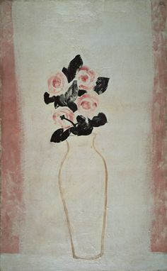 Roses in a White Vase, 1930s, oil on canvas, 81x50cm