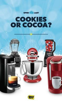 A brewer? A baker? Whomever you're gifting for, we've got a selection of kitchen appliances they'll love to open. Keurig, KitchenAid, Ninja, Nespresso, Vitamix and more. So it doesn't matter whether they love to bake sugar cookies or brew seasonal blends we can help you gift them. Every kitchen could use some of the Best Buy holiday spirit.