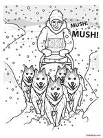 iditarod map coloring pages - photo#14