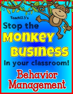 Behavior Management:  No More Monkey Business - tips to use with your students who have trouble following the rules plus enter my giveaway.  I am giving away tools to fill your behavior management toolbox.  paid