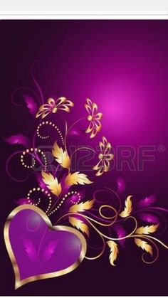 Illustration of Valentine Day vector art, clipart and stock vectors. Wallpaper For Your Phone, Heart Wallpaper, Purple Wallpaper, Love Wallpaper, Wallpaper Backgrounds, Colorful Backgrounds, Wallpaper Ideas, Iphone Wallpapers, Hearts And Roses