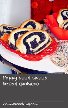 Poppy seed sweet bread (potica) | This sweet poppy seed bread is considered a staple in Slovenian bakeries and there are countless variations across Central Europe. It's important to buy your poppy seeds from a vendor you know has high turnover because they're prone to rancidity and if not kept in cool conditions will become bitter. For best results, make sure the kitchen space and all the ingredients are warm when preparing the dough. Ingredients To Make Bread, Bread Dough Recipe, Poppy Seed Bread, Central Europe, Bakeries, Sweet Bread, Bitter, Hare, Bread Recipes