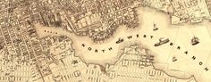1851 plan of Baltimore. Unfortunately it depicts downtown and we live in northern Baltimore city but it was the best I could find. I purchased for $52 at bluemonocle.com and framed myself using an ikea frame.
