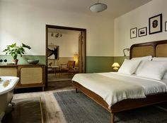 Hotel Sanders, freshly coated in signature Copenhagen green, is the city's very first luxury boutique hotel. Hotel Sanders is the latest manifestation of . Home Bedroom, Master Bedroom, Bedroom Decor, Bedrooms, Home Interior, Interior Architecture, Interior Design, Copenhagen Hotel, Copenhagen Denmark