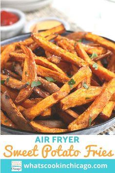 Air Fryer: Sweet Potatoes Fancy Appetizers, Easy Appetizer Recipes, Snack Recipes, Snacks, Other Recipes, Great Recipes, Favorite Recipes, Air Fryer Recipes, Potato Recipes