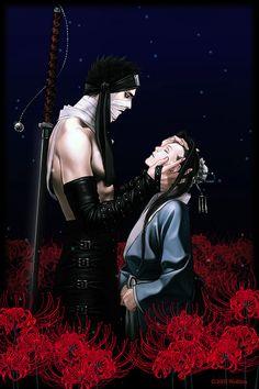 Haku e Zabuza - fanart Naruto