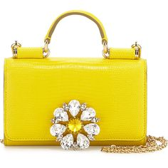 Dolce & Gabbana iPhone® Crystal Flower Crossbody Bag ($1,155) ❤ liked on Polyvore featuring bags, handbags, shoulder bags, yellow, handbags crossbody, handbags purses, purse shoulder bag, dolce gabbana handbag and hand bags