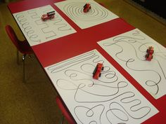 Used this on placement but had road letters for the children to trace with fire engines!