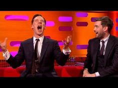 Benedict Cumberbatch does Chewbacca impression in front of Harrison Ford And he is officially the cutest person EVER.