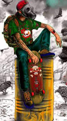 Gas Mask Art, Simpsons Art, Cartoon Style Drawing, Graffiti Wallpaper, Cartoon Wallpaper, Art Wallpaper Iphone, Neon Wallpaper, Monkey Art, Pop Art Wallpaper