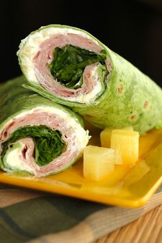 Ham and Pineapple Wraps - simple and tasty!  Great for picnics!