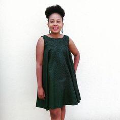 Seshoeshoe Shweshwe Sesotho Dress by Nthabiseng Majoro African Print Fashion, African Fashion Dresses, African Dress, Fashion Prints, Seshoeshoe Dresses, Shweshwe Dresses, Kitenge, African Fabric, The Ordinary