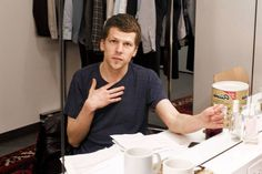Jesse Eisenberg in his dressing room at the Pershing Square Signature Center in May.