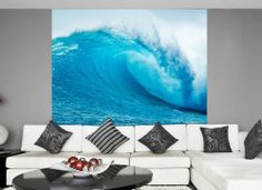 Blue Ocean Wave Wall Mural/Wallpaper (2.4m x 2.2m) for living room, for bedroom, for home. by Wallpaper Ink, http://www.amazon.co.uk/dp/B00ITMB3X4/ref=cm_sw_r_pi_dp_RIhstb0CW9RPT