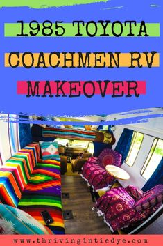 We just finished remodeling our vintage RV. We have a 1985 Toyota Coachmen motorhome and we renovated it from an ugly gray to a beautiful rainbow home on wheels! Check out this bohemian makeover to see the rolling hippie home of our dreams! Travel Hack, Time Travel, Budget Travel, Travel Tips, Survival Tips, Survival Skills, Rv Living, Frugal Living, Outdoor Living