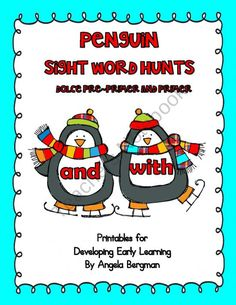 Penguin Sight Word Hunts product from Preschool-Discoveries on TeachersNotebook.com