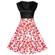 SHARE & Get it FREE | Vintage Abstract Floral Print High Waist DressFor Fashion Lovers only:80,000+ Items·FREE SHIPPING Join Dresslily: Get YOUR $50 NOW!