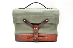vintage Swiss Army green canvas bag // iPad  by RedTuTuRetro, $50.00