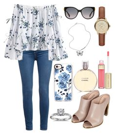 """""""Untitled #83"""" by dreampolyvore on Polyvore featuring Paige Denim, Topshop, Burberry, Chanel, FOSSIL, Alexander McQueen, Blue Nile, Casetify and Dolce&Gabbana"""
